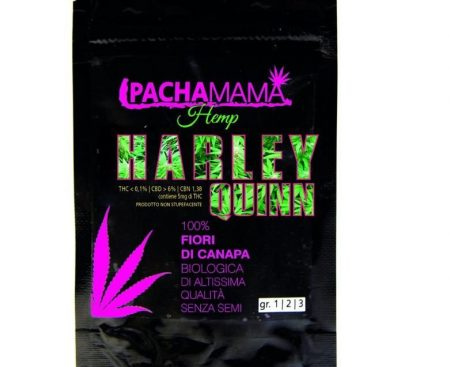 Pachamama-Harley-Quinn-fiori-canapa-biologica